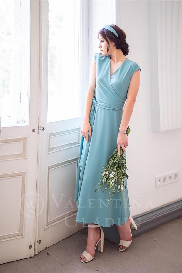 Valentina Gladun. Вечернее платье Matilda Beryl Green