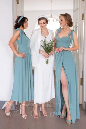 Valentina Gladun. Вечернее платье Windsor Long Beryl Green